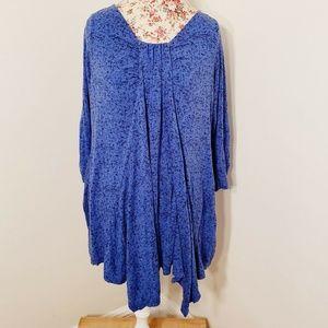Rose & Olive Blue Long Sleeve Tunic Size 1X